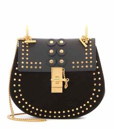 Drew Small embellished suede and leather shoulder bag | Chloé