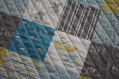 Modern Organic Baby Boy Quilt by mamalovequilts on Etsy, $180.00