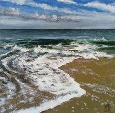 Side Tide – Elena Duff Small Paintings, The Duff, The Conjuring, My Arts, Waves, Landscape, Beach, Outdoor, Outdoors