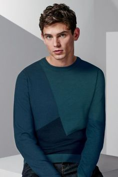 Buy Lightweight Angular Colourblock Crew from the Next UK online shop