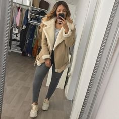 """48.6k Likes, 435 Comments - SHERLINA (@sherlinanym) on Instagram: """"My fave shearling coat """""""