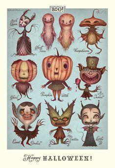 Comme vous le savez, Halloween approche à grands pas ! Voici une sélection d'illustrations et des publicités ayant des styles variéspour bien entrer dans