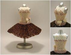 Coffee Ballerina Bead Dress by pinkythepink