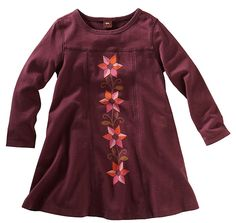 Tea Collection Matilde Flores Dress in prune from Modern Mexico fall 2011