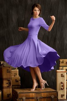 Shabby Apple Pirouette Skirt Purple