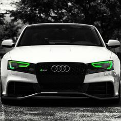 Audi with Green Eyes! Audi A5 Coupe, Bugatti, Lamborghini, Ferrari, Sexy Cars, Hot Cars, My Dream Car, Dream Cars, Wrapping Folie
