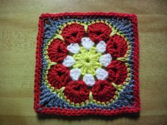 African Flower Square ~ free pattern ᛡ