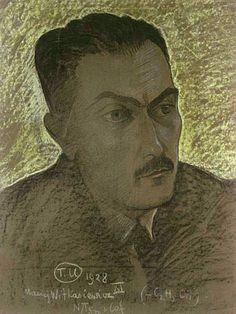 Tadeusz Boy - Żeleński, portret namalowany przez Witkacego prawd. w 1928 r.
