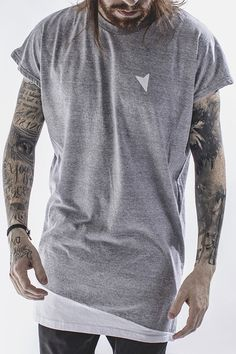 da1bd24876063 Camiseta Light Oversized Sleeveless - Right Here. Camiseta Mescla Oversized  sem Manga. Camiseta com