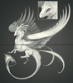 Sea Cloud Dragon design (adoptable) - CLOSED by Kamakru on DeviantArt