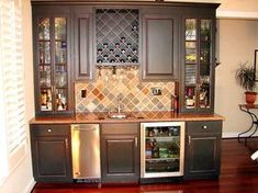 Awesome Custom Bar Cabinets for Home