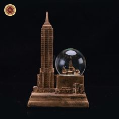 WR Famous Building Design Snow Ball Desk Decoration Model Toys Holiday Best Souvenirs Figurines & Miniatures for Gifts