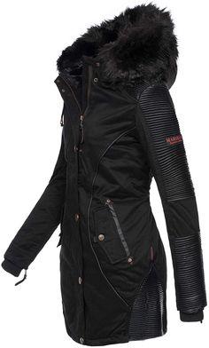 e2cb62023c03 Marikoo Designer Damen Winter Parka Warme Winterjacke Mantel Jacke B372   B372-Larissa-Schwarz-Gr.XS   Amazon.de  Bekleidung
