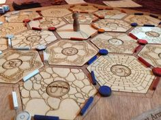 Picture of Laser Cut Settlers of Catan Board