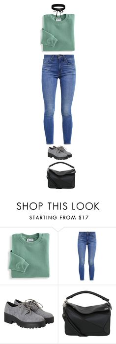 """Sin título #5178"" by xoxominyeol ❤ liked on Polyvore featuring Blair, Levi's, Monki, Loewe and Boohoo"