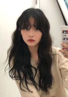 Hairstyles With Bangs, Pretty Hairstyles, Girl Hairstyles, Pelo Ulzzang, Ulzzang Girl, Korean Ulzzang, Tokyo Street Fashion, Hair Color Purple, Aesthetic Hair