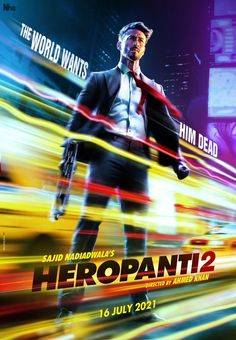 Tiger Shroff is a man on a mission in first look posters of Heropanti 2 film to release on July 16 2021 : Bollywood News Bollywood Actors, Bollywood News, Bollywood Gossip, Tiger Shroff Body, Hindi Movies Online, Sr K, Upcoming Films, Action Film, 2 Movie