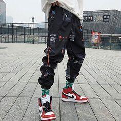Pantalon Streetwear, Streetwear Mode, Streetwear Fashion, Hip Hop Fashion, Fashion Pants, New Fashion, Fashion Outfits, Style Fashion, Fashion Ideas
