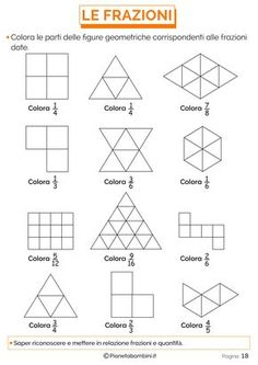 Fraction worksheets for primary and elementary math class, based on the Singapore math curriculum. Fractions Worksheets, Math Fractions, Geometry Practice, Singapore Math, Primary Maths, Math Class, Math Education, Math Games, Fraction Activities