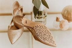 Cute wedding shoe idea - love note on the bottom of wedding heels {Makenna Brylee Photography}