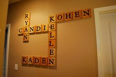 Family scrabble. This is so cute!