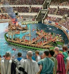 Recreated Naval Battle inside the Roman Coliseum.