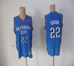 d83d5a308 Thunder  22 Jeff Green Blue Revolution 30 Embroidered NBA Jersey! 21.50USD