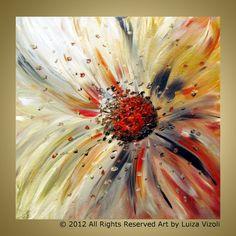 FLORAL MICROCOSMOS Original Abstract Flower Oil by LUIZAVIZOLI, $175.00