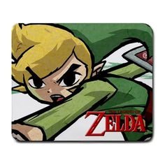 The Legend of Zelda Art Large Mousepad mat * Game Merchandise Nintendo Vintage