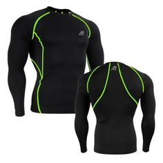 Men Workout Compression Body Building Tops - Long Sleeve