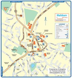 Map of Hailsham created in 2011 for Thomson Directories. One of approximately 350 UK town and city maps produced royalty free. Find out more...  http://www.pcgraphics.uk.com   or read our blog...    http://www.pcgraphics.uk.com/blog/
