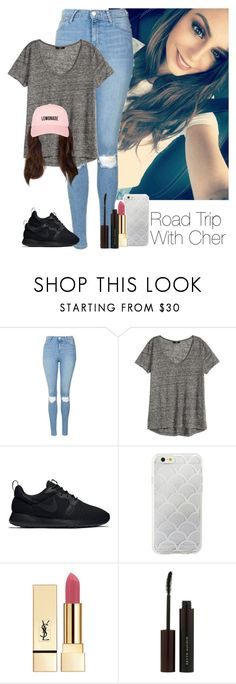 """""""»Road Trip With Cher."""" by storyofmylife1danita-scream ❤ liked on Polyvore featuring Topshop, H&M, NIKE, Sonix, Yves Saint Laurent and Kevyn Aucoin"""