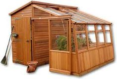 This appeals because it seems the footprint is nice and compact - storage/potting shed and greenhouse in the same unit!
