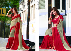 Looking for Beige & Red #Georgette Resham Work Saree along with Red colour Satin silk Blouse in India? #Laxmipati sarees is your one stop shop for all kinds of designer #printed sarees. #Catalogue #GULNAR Price - Rs. 2346.00 Visit for more designs@ www.laxmipati.com #GaneshChaturthi #GaneshChaturthi2016 #Ganesh #monsoon #Shopping #Shoppingday #ShoppingOnline #fashionstyle #ReadyToWear #OccasionWear #Ethnicwear #FestivalSarees #Fashion#Fashionista #Couture #LaxmipatiSaree #Au