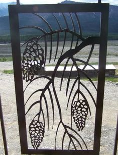 Image result for pine cone wrought iron stair railing