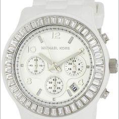 3e448c9a45cc Authentic Michael Kors white watch