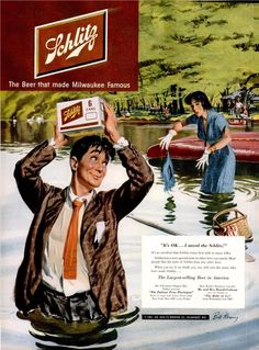Schlitz Beer.  Yup I know this guy.  I was married to him for awhile.