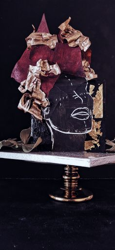 Mother's day cake. Äitienpäivä kakku. Modernit ja näyttävät tilauskakut. Elmos cakery. Blackcake afrocake headwrapcake Elmo, Cake Art, Contemporary, Unique, Painting, Beautiful, Art Cakes, Painting Art, Paintings
