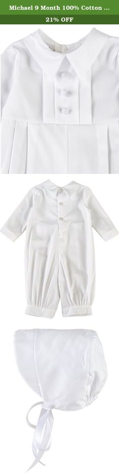 Michael 9 Month 100% Cotton Christening Baptism Blessing Outfit for Boys. Our popular pleated christening, baptism, blessing outfit in a long length is simply ideal for any baby boy, comfortable, classic and masculine.