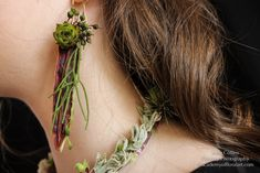botanica earring, demo for workshop in Devon, Francoise Weeks