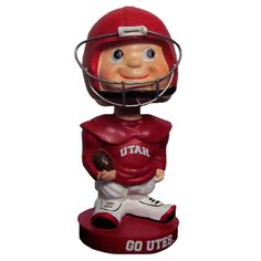 Bobble Head Utah Utes Football Star. How great would this look on your desk?