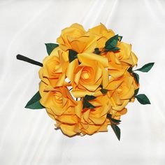 """Friendship Forever"" origami rose bouquet - 48 folded elements (origami flower & foliage)  - Free Shipping Worldwide - $94.99"