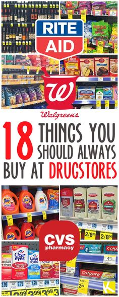 18 Shocking Things You Should Always Buy at Drugstores - The Krazy Coupon Lady Ways To Save Money, Money Tips, Money Saving Tips, Shopping Coupons, Shopping Hacks, Store Hacks, Grocery Coupons, Store Coupons, Bargain Shopping