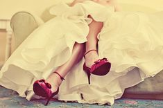 @April Cochran-Smith Roberts Wedding shoes = get whatever color shoes your want...BOOM! Don't feel like you have to do white!!