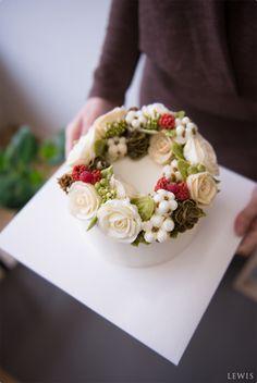 12월 크리스마스 원데이클래스_꽃케이크 : 네이버 블로그