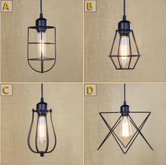 Edison Noric Style RH Retro Loft Industrial Vintage Pendant Lighting Fixtures For Dinning Room Lamparas Iluninalion Lampen #Affiliate