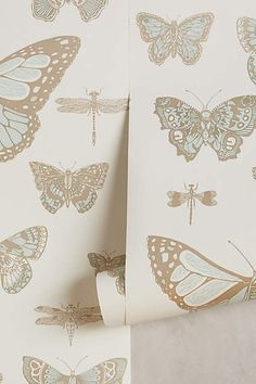 Lepidoptera Wallpaper - anthropologie.com