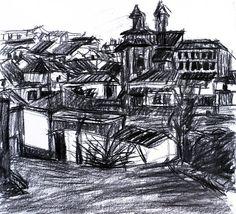 Paisaje 64-2003 Fuente Obejuna Dibujo Original por PINACOTHECULA