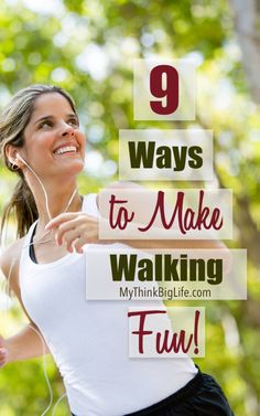 We all know walking is good for us but did you know you can make it fun too. I've been walking for over 20 years and it never gets old for me. Over the years I've found lots of ways to make walking fun as well as effective. Health And Fitness Tips, Health And Beauty Tips, Fitness Diet, Healthy Mind And Body, Get Healthy, Benefits Of Walking, Easy At Home Workouts, Walking Exercise, Workout Challenge
