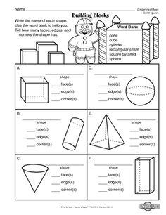 list of geometric shapes 2d shape sheet bw   homeschool   Pinterest ...
